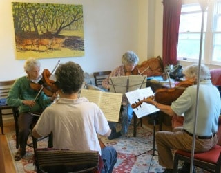 Quartets in the Music Room