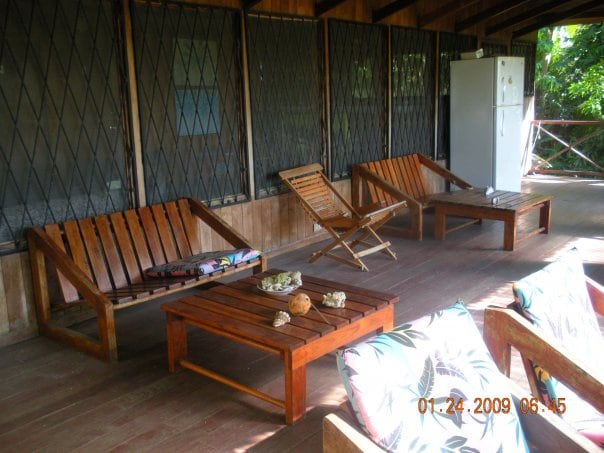 Deck of the teak house