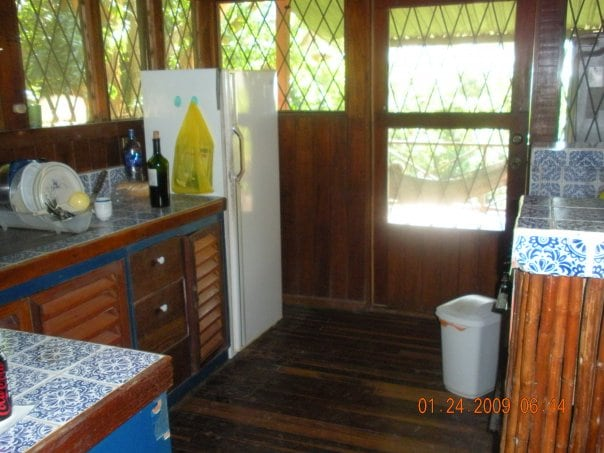 Common kitchen area for the use of all guests