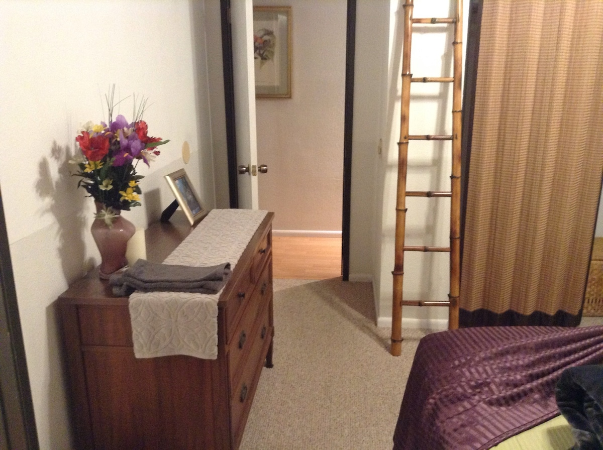 View into hallway from master suite