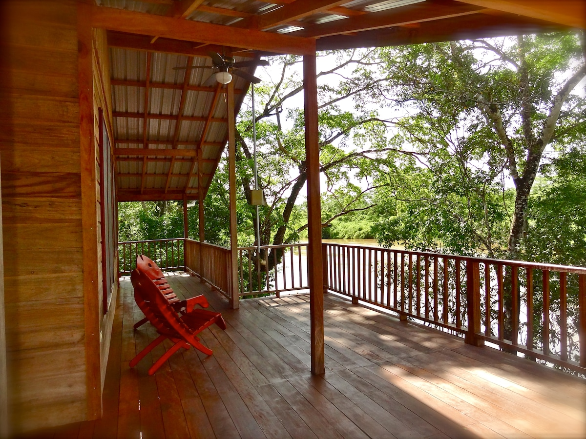 The Howler House deck - a place to spend the day and watch the stars at night