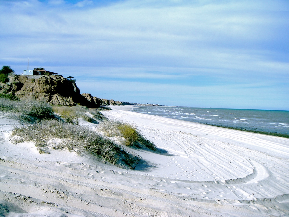 The white sand beach stretches for miles...and usually you have it all to yourself.