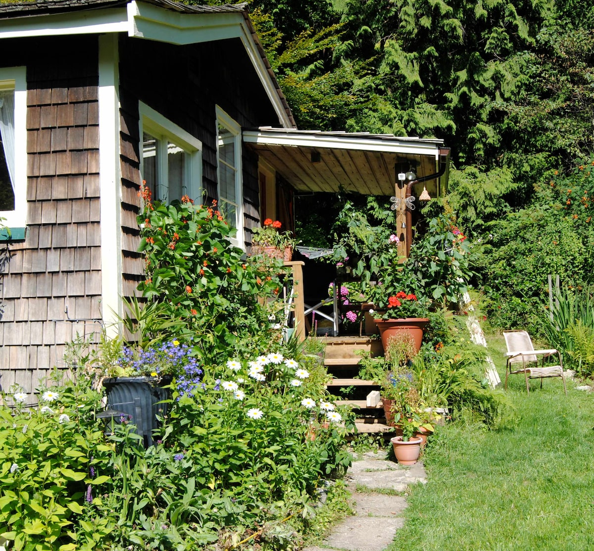 Joe Creek cottage in late summer