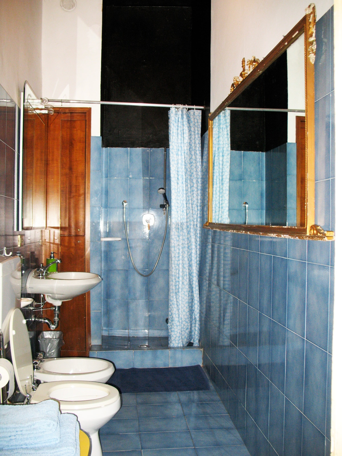 The bathroom, large and clean