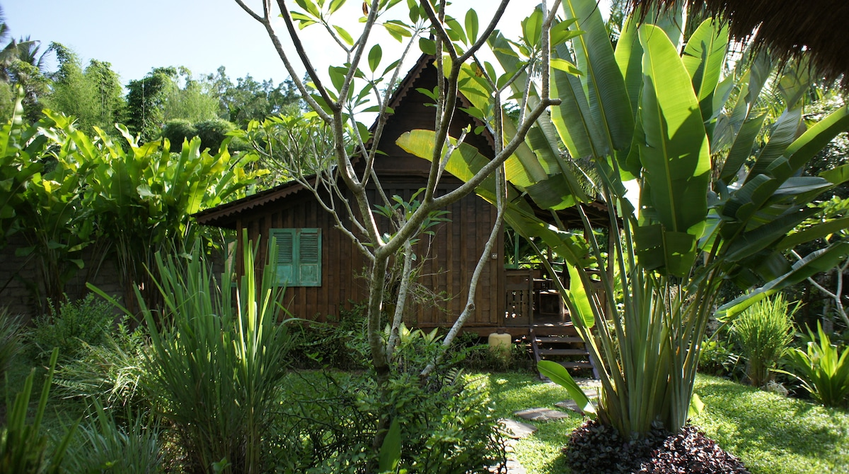 The Gladak - a charming, rustic Javanese wood house transported from Java.