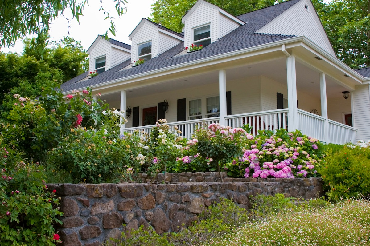 Storybook home with wrap around porch