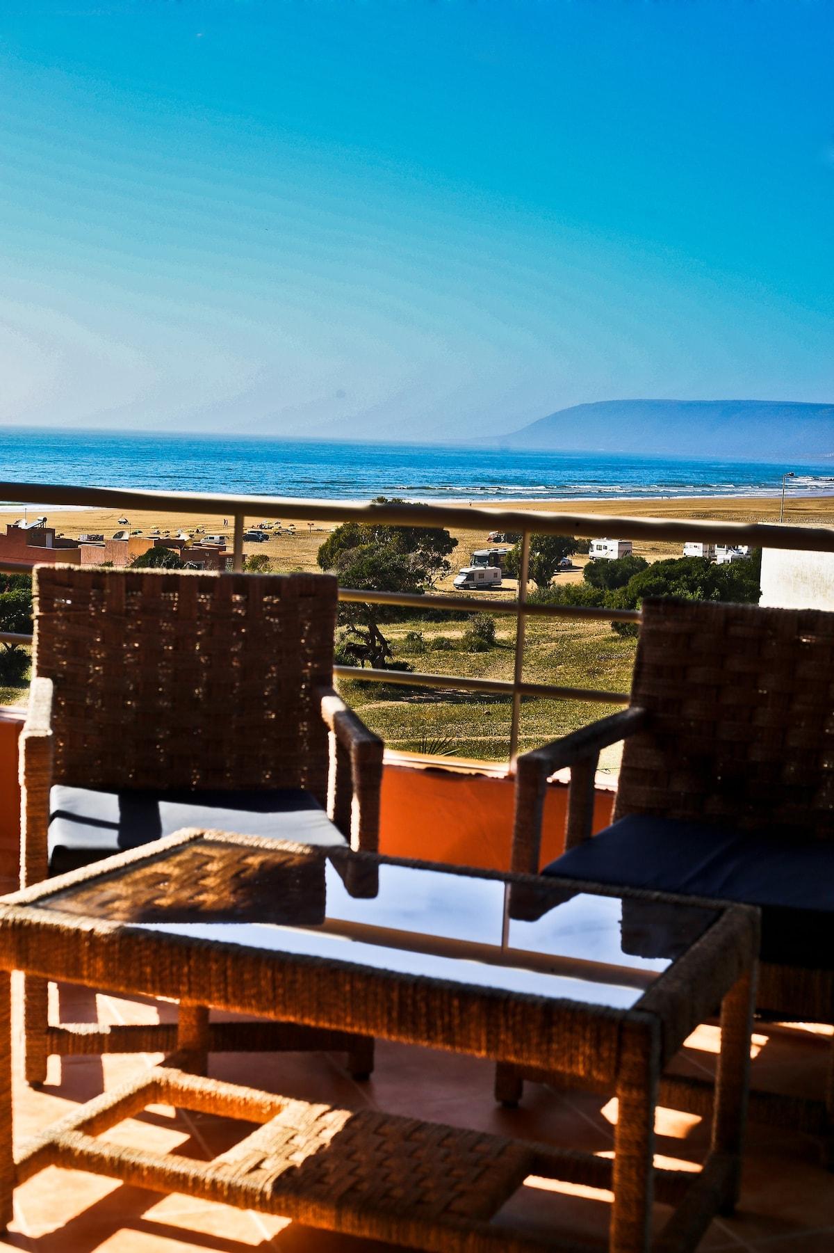 Villa avec vue sur mer à Imiouaddar