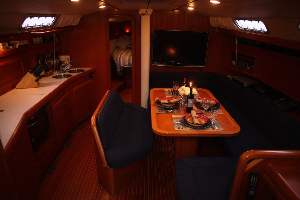 Galley and dinning area