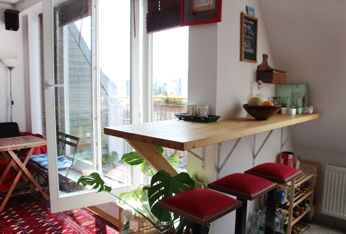 Cosy & sunny flat with 2 terraces