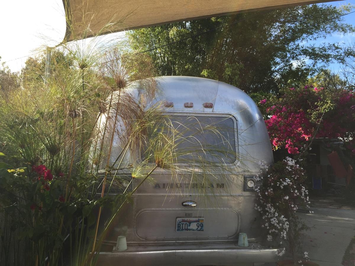 eco chic backyard private Airstream