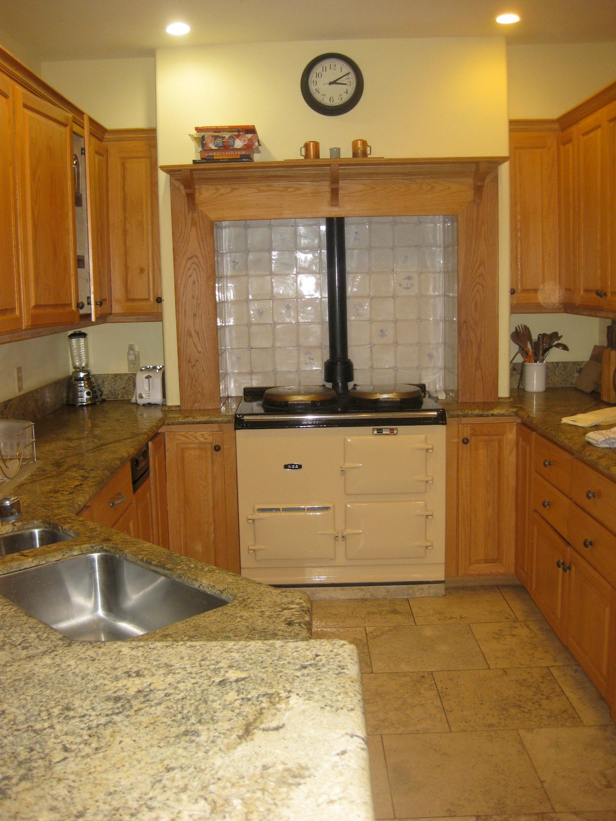 Kitchen with Aga stove