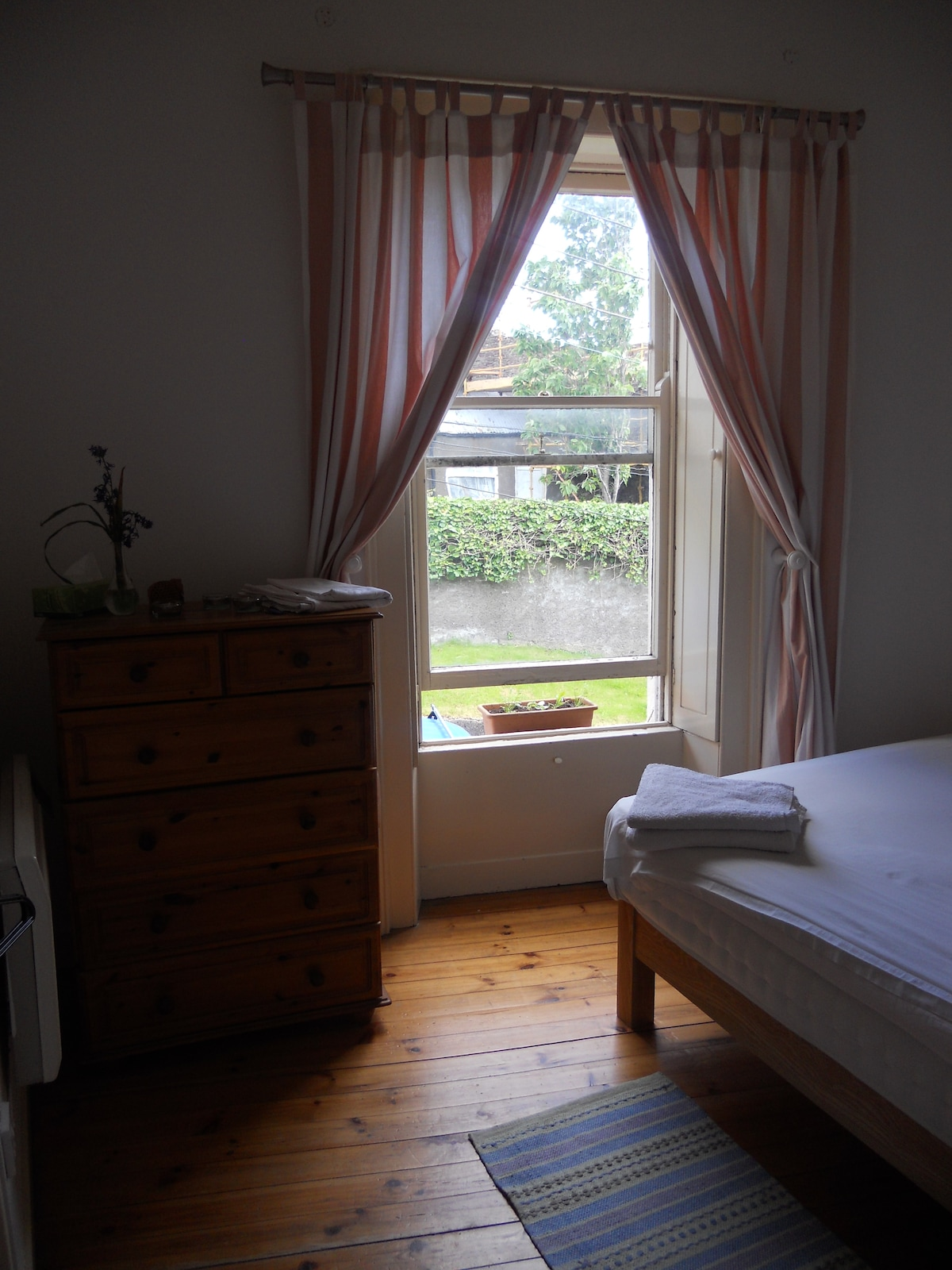 Bedroom catches the morning sun (but there are wooden shutters if you're not a morning person!)
