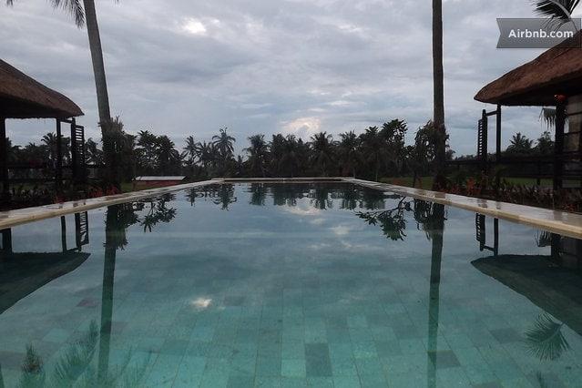 Pool Overlooking Rice fields