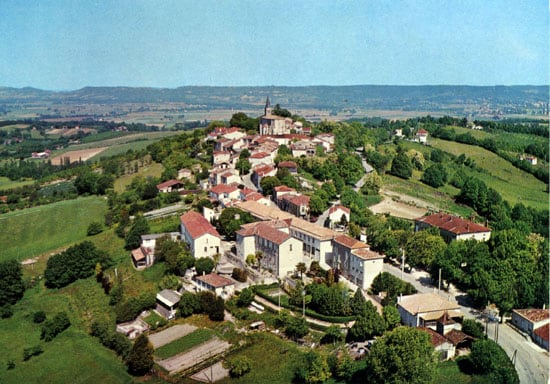 Aerial view of Montpezat
