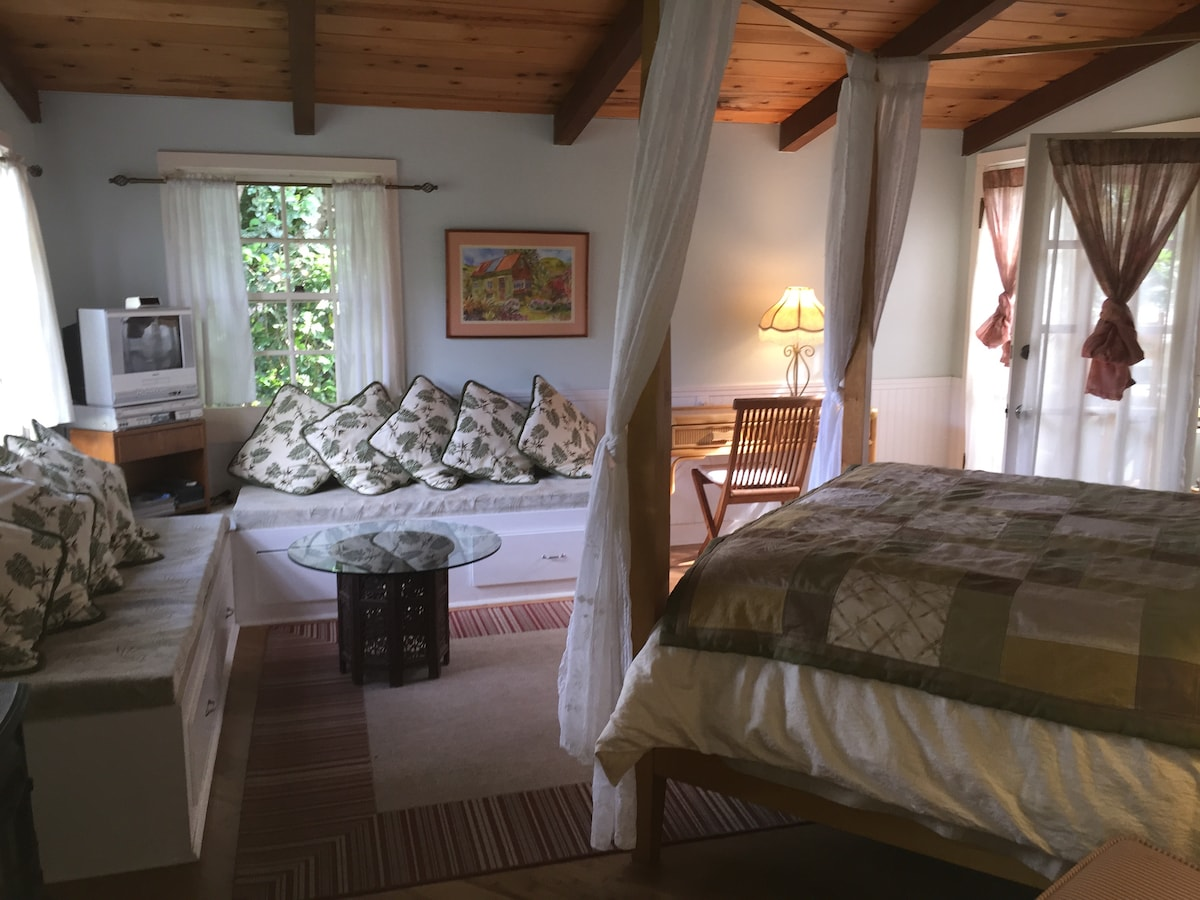 The spacious and self contained Hibiscus Suite Bedroom
