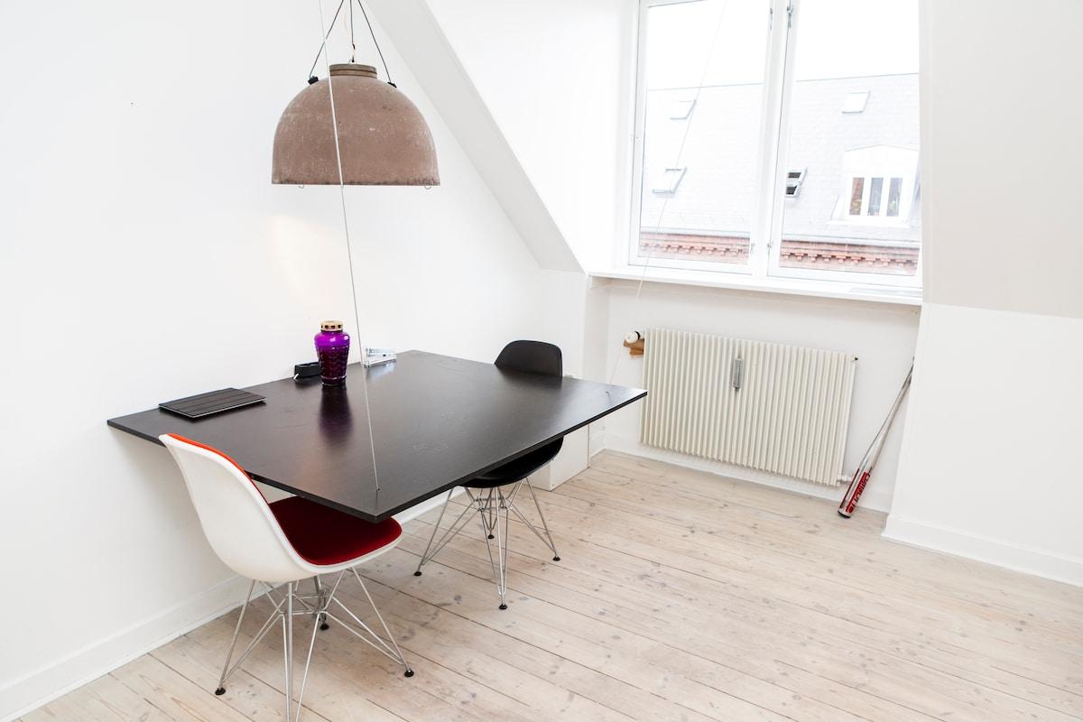 Cozy attic in the heart of Nørrebro