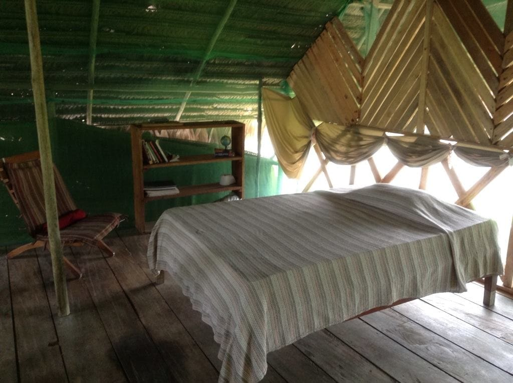 Room 2 : Mezzanine Floor with Double bed, double hammock, additional beds can be added