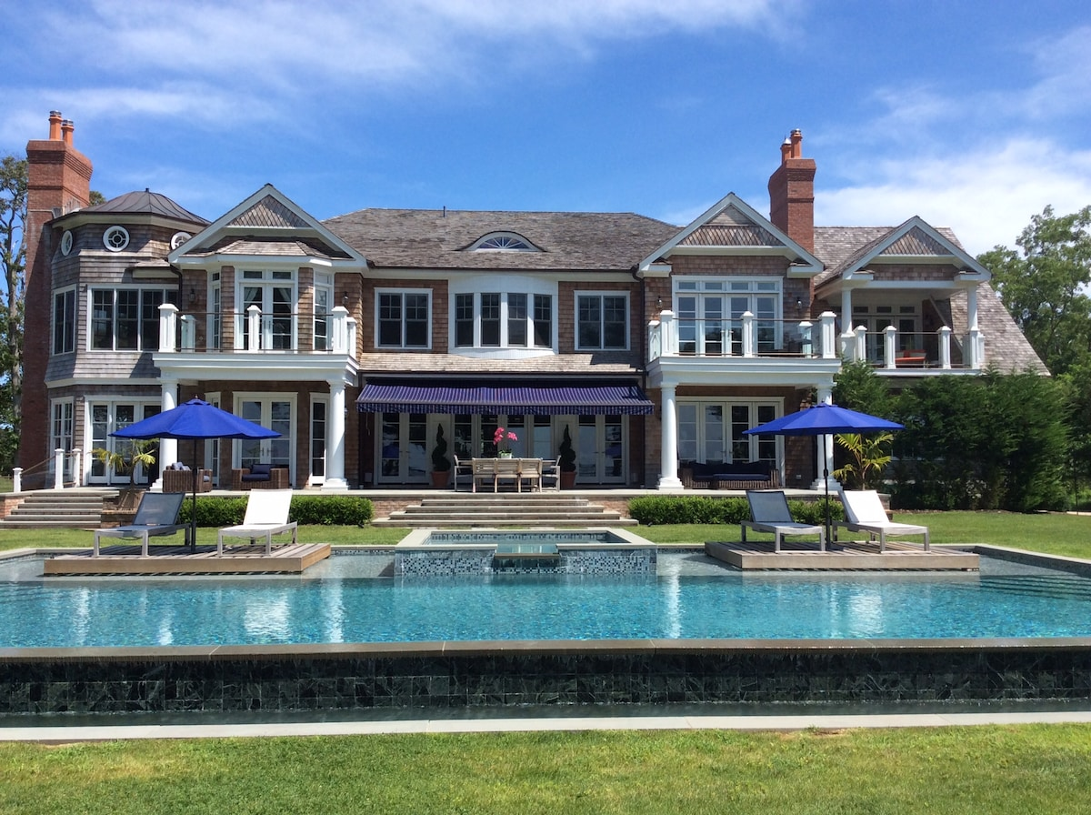 Water-surrounded Sag Harbor Estate