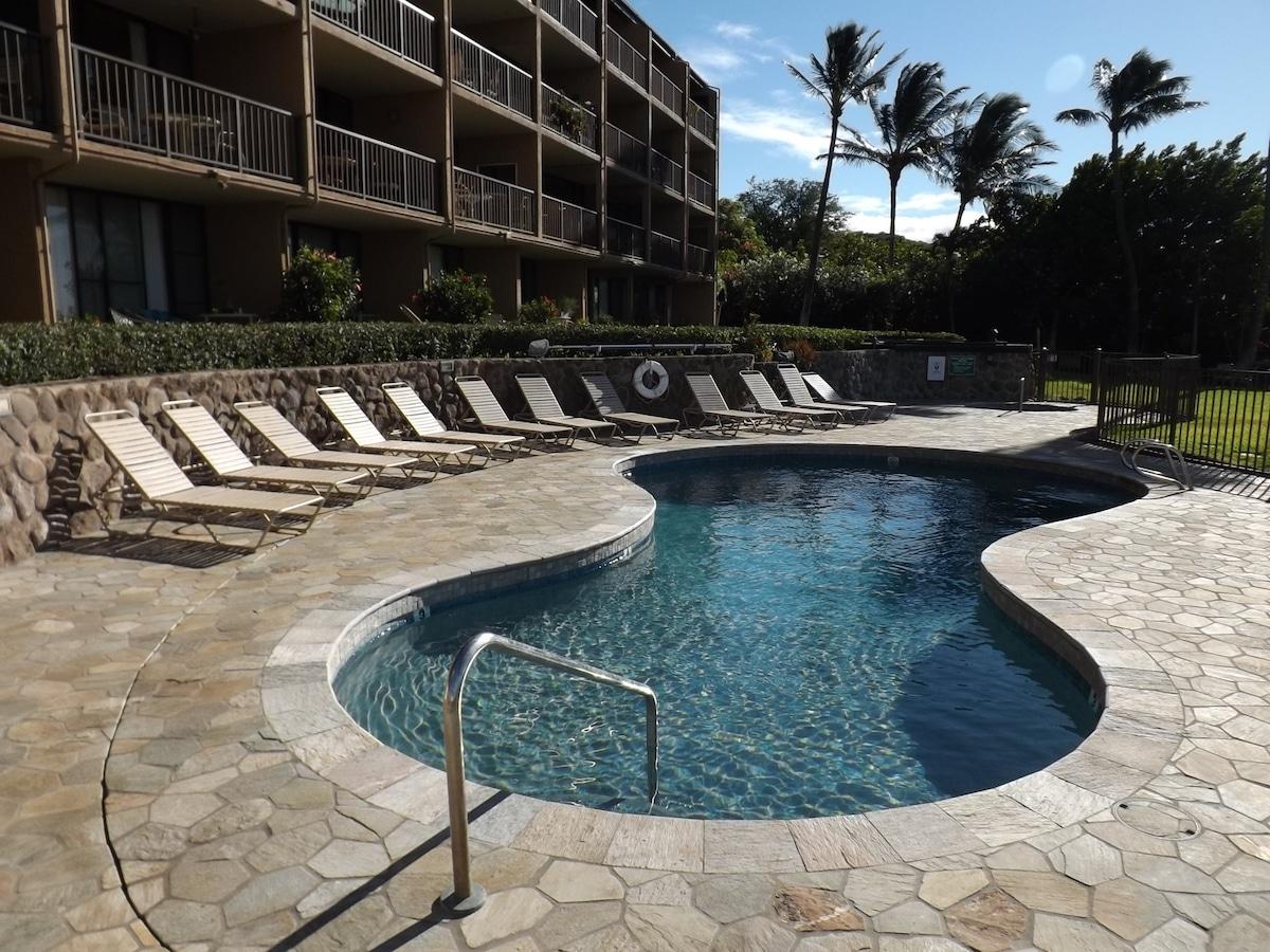 Newly re-furbished pool & pool area