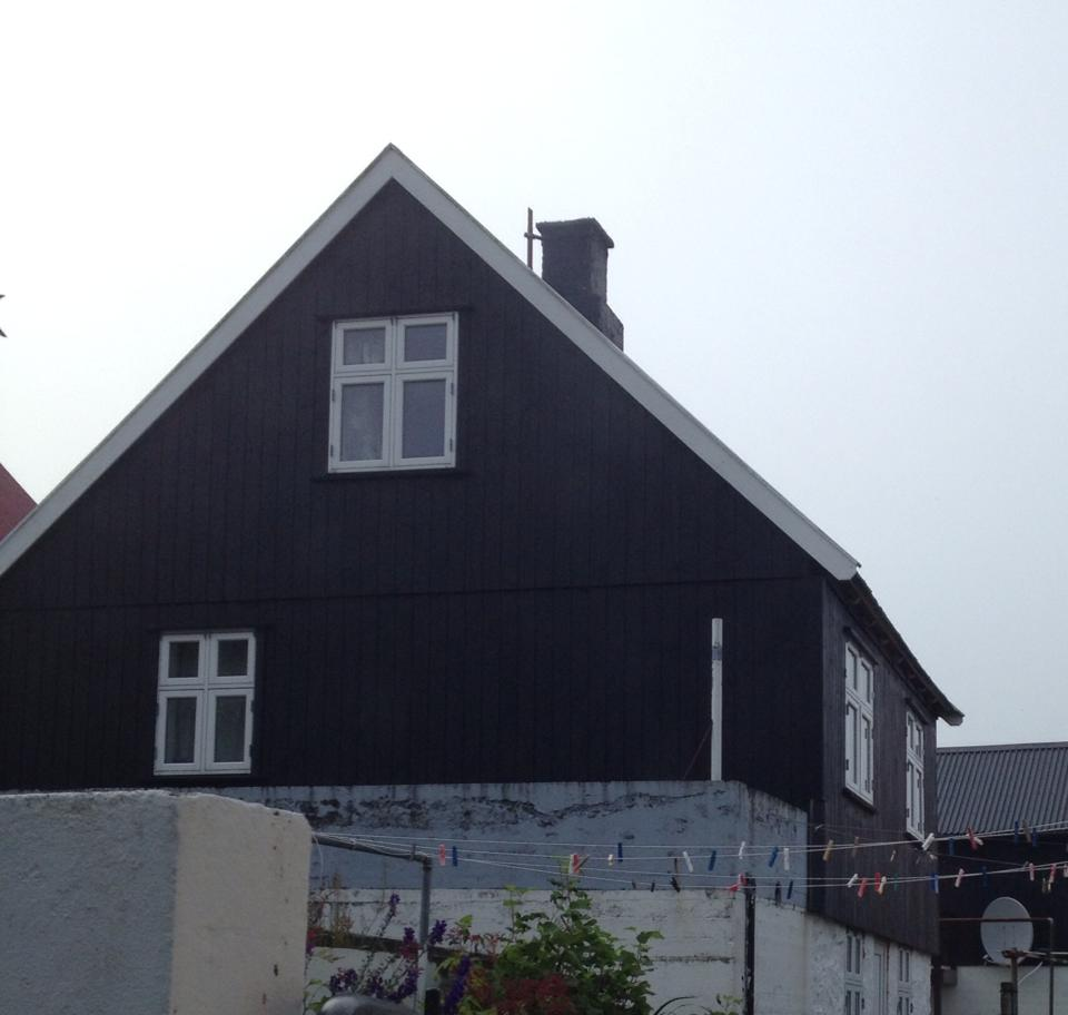 Old charming faroese house
