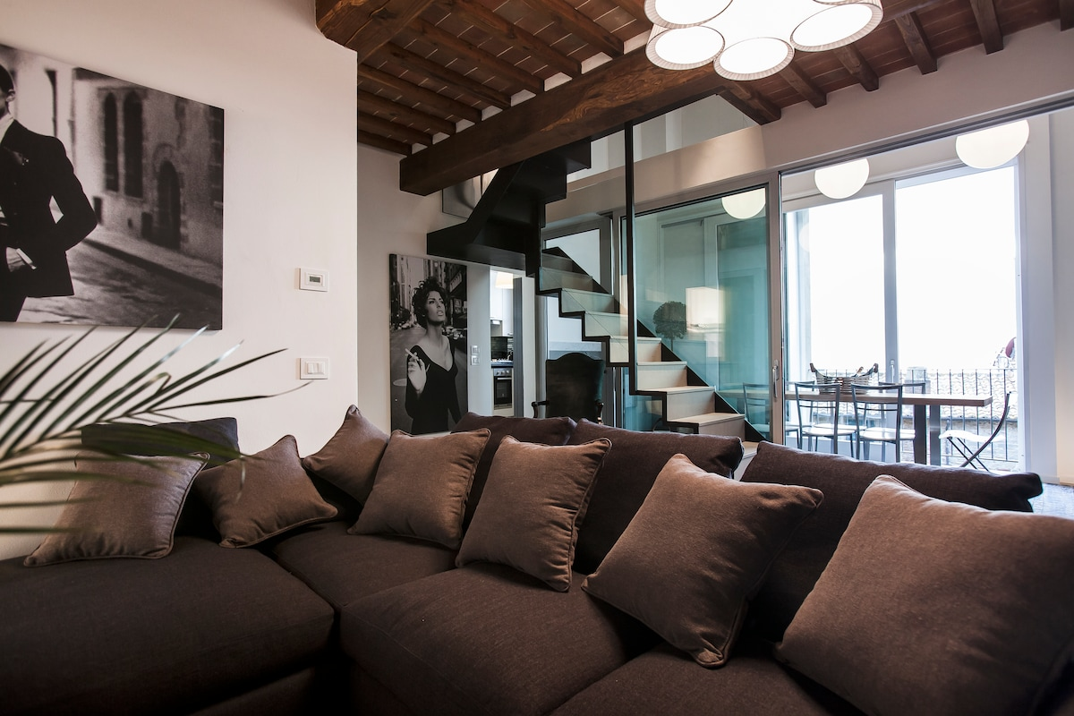 Luxury apartment in Cortona