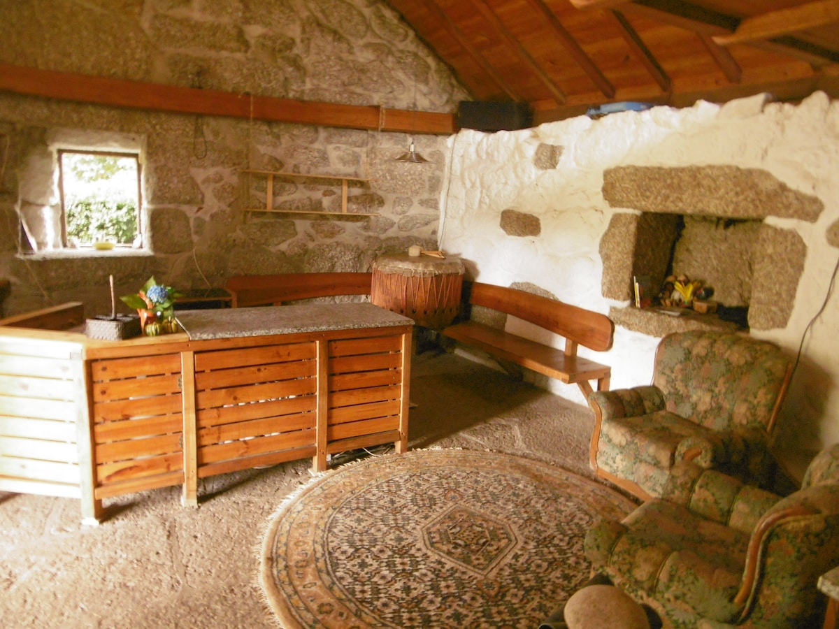 Rustic stone house in countryside