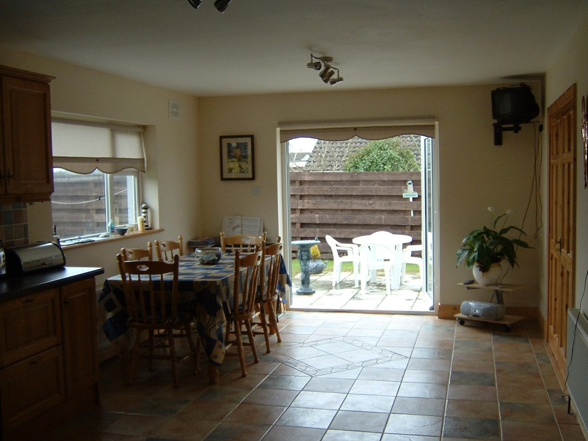 Dining area with access to garden