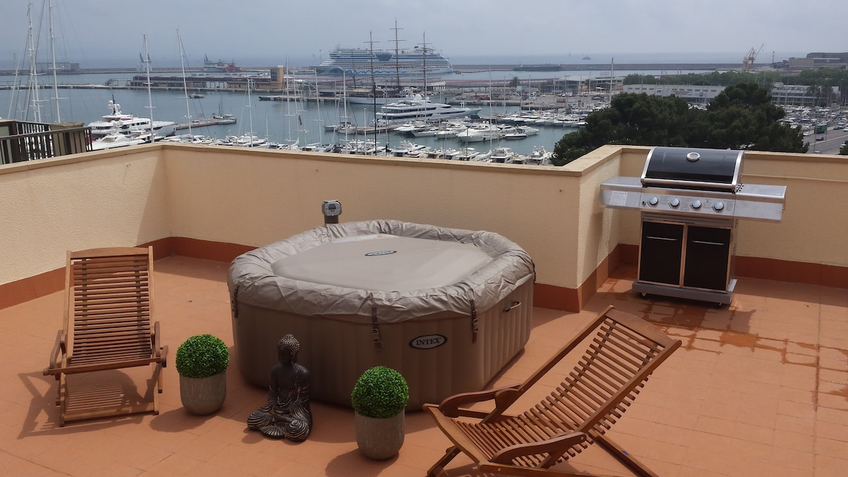 Best view in Palma, penthouse room