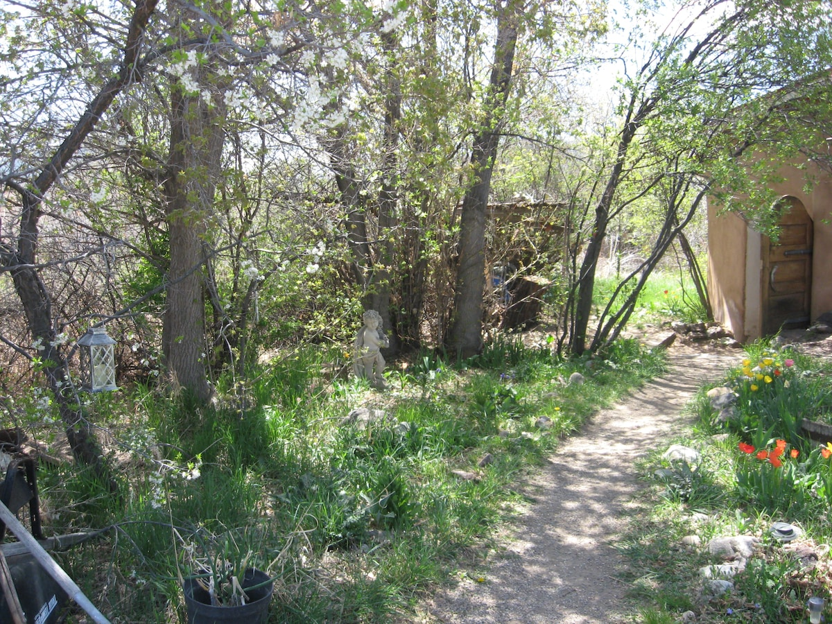 Historical, adobe on river,orchard