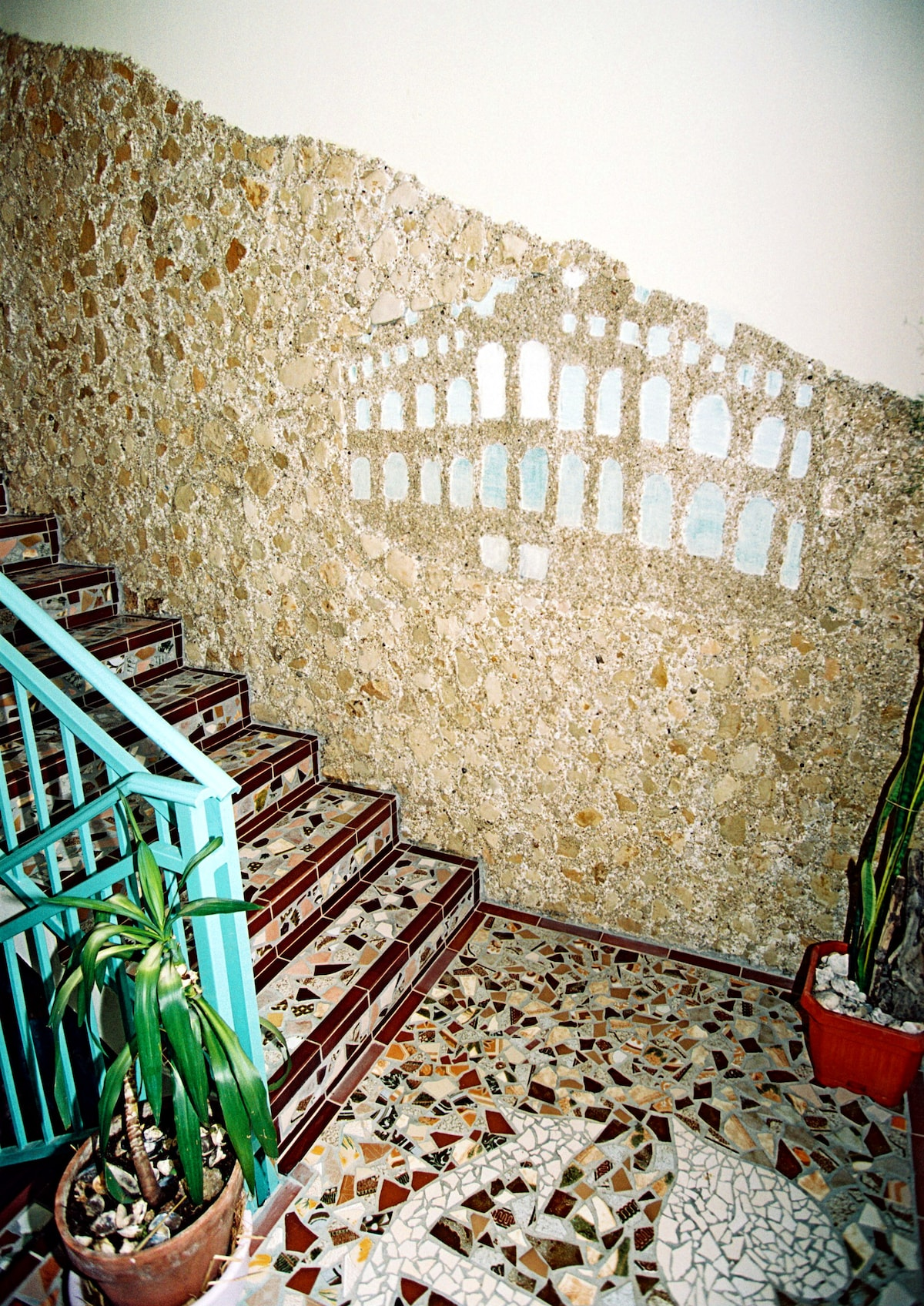 Eingang ins Apartment. Entrance to the apartment.