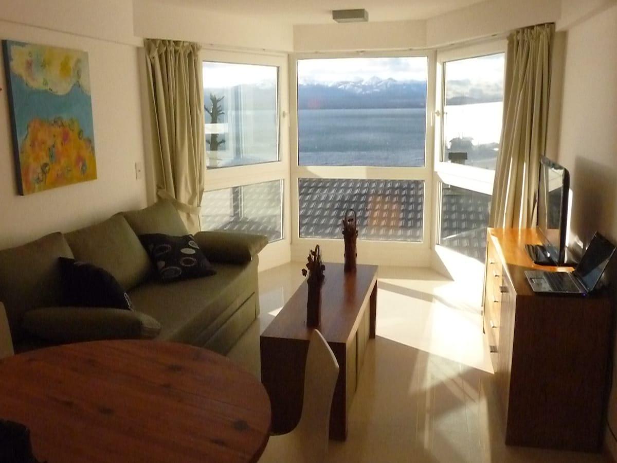 Living room - View to Nahuel Huapi Lake