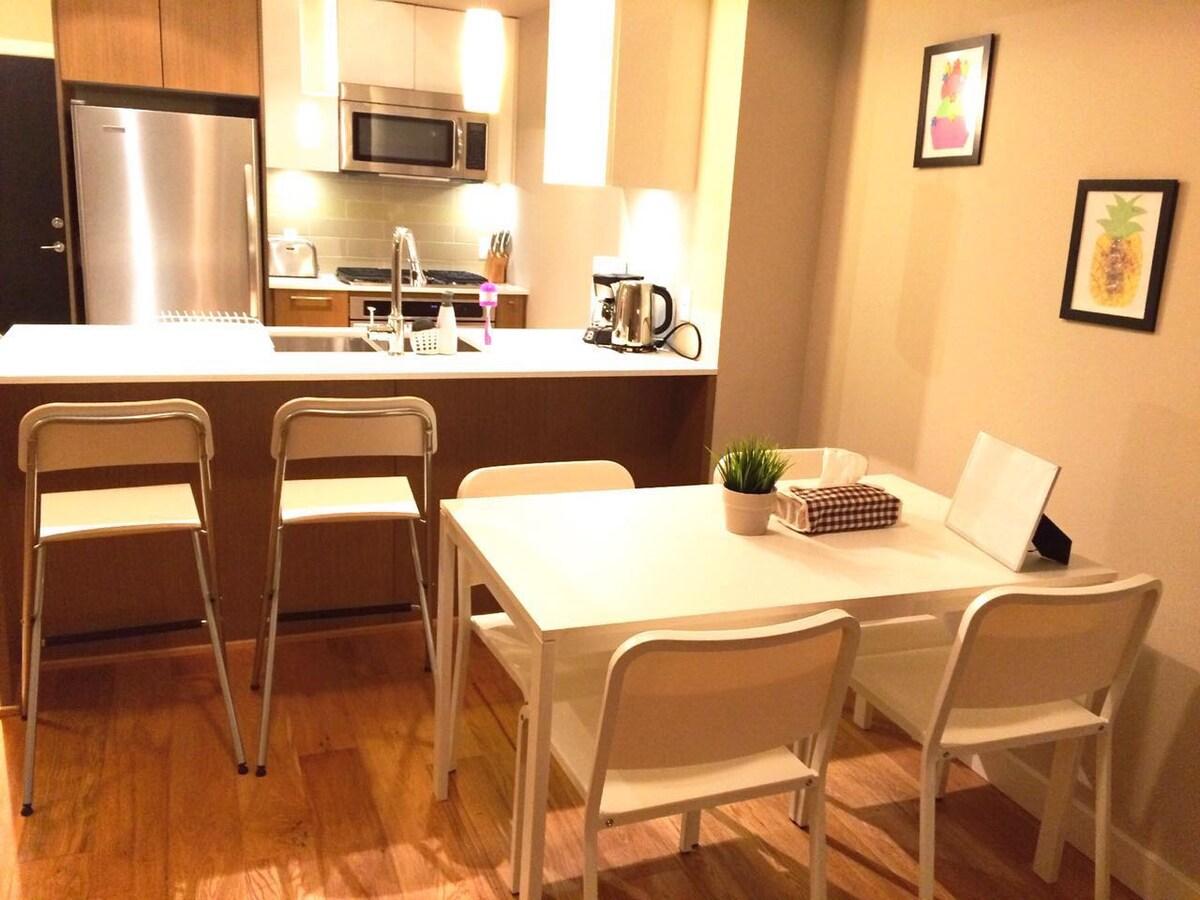 一室一厅独立成套:探亲访友,旅游度假,比酒店更便宜,比民居旅馆更舒适