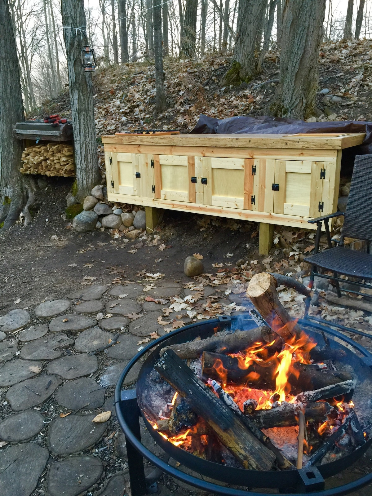 New handmade outdoor kitchen