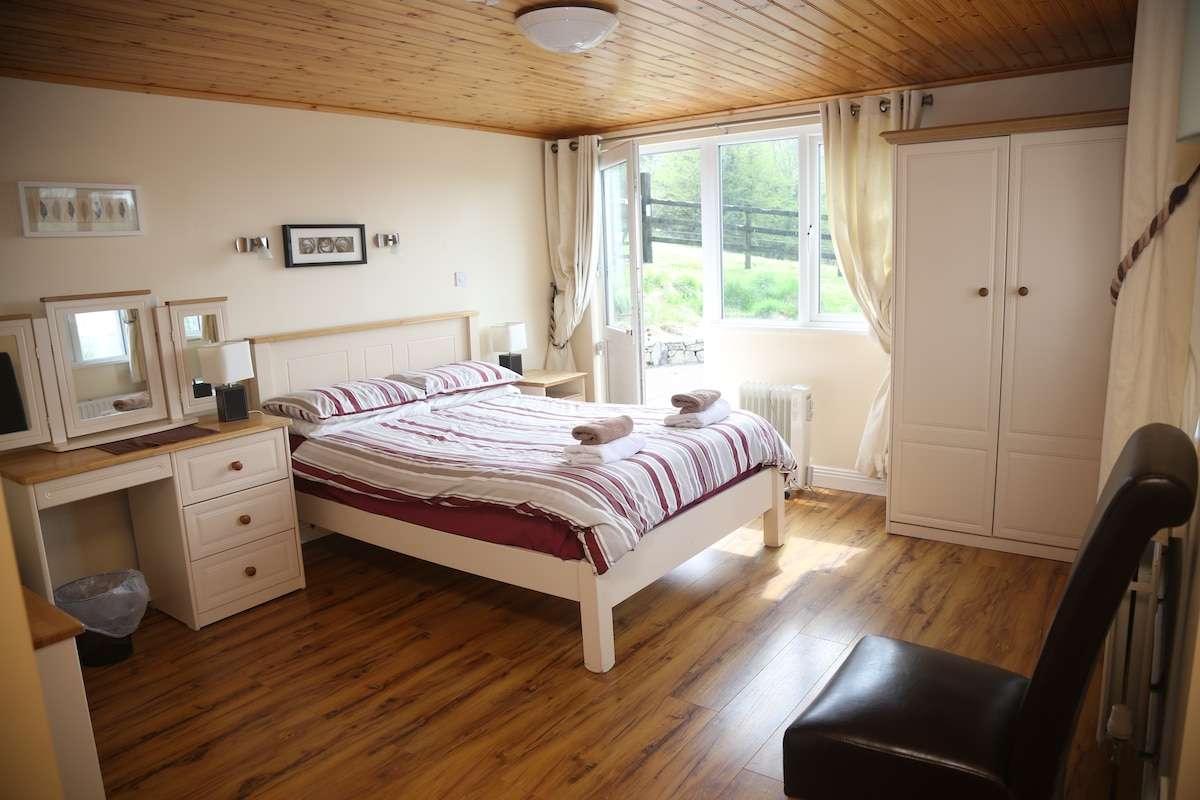 Master bedroom with excellent view and en suite
