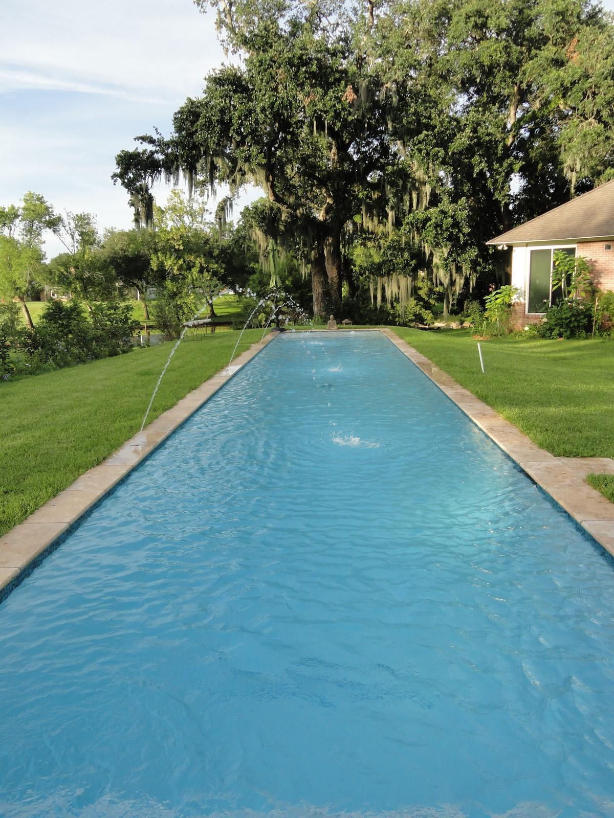 Saltwater lap pool