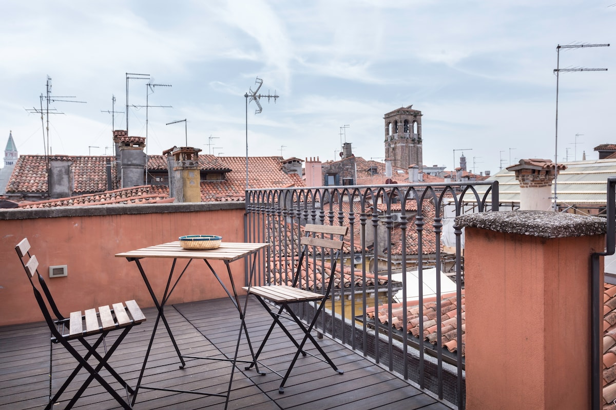 Nice Studio in Rialto: Terrace&View