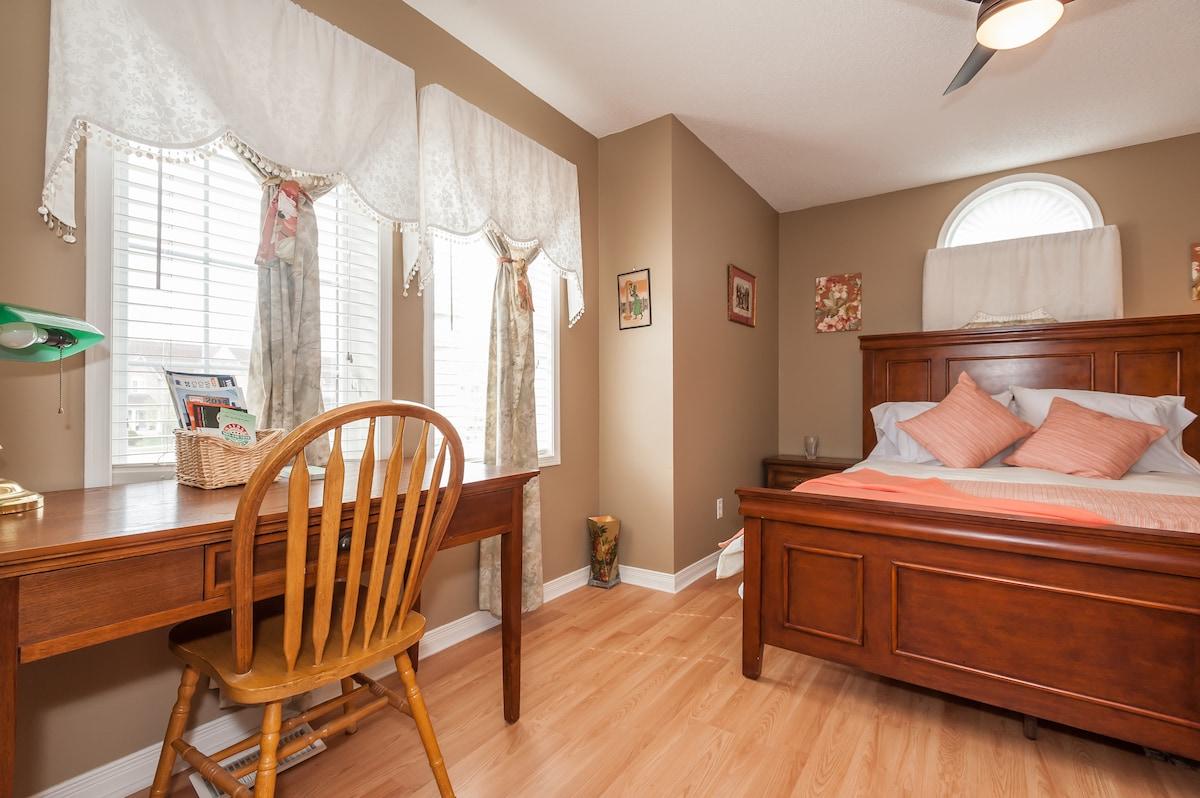 Comfy room in quiet pristine home.l