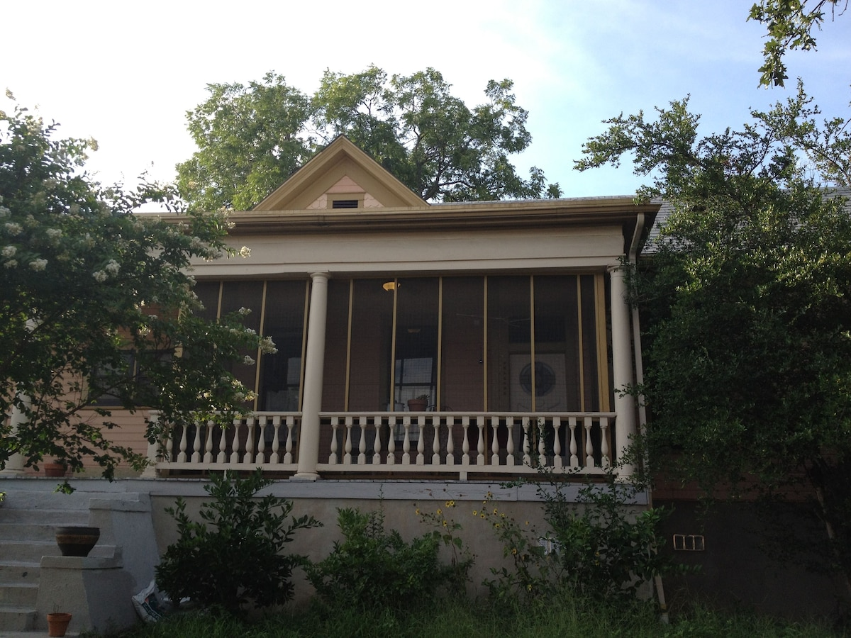 Cotton Street Suite's sweet, screened porch