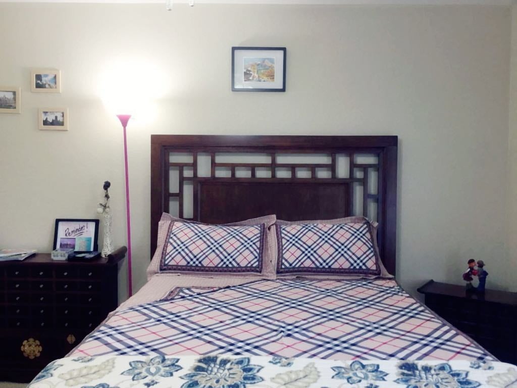 This is the first guest bedroom we are renting out.New Tempur-Pedic adjustable queen size bed for your comfort. Extra pillows and blankets are available.