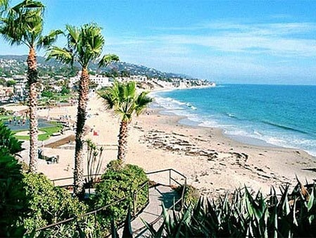 we are not beachfront, but there are gorgeous beachfronts throughout Laguna Beach