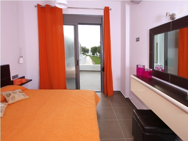 Each apartment has a private balcony with a view of the mountain and the sea!!