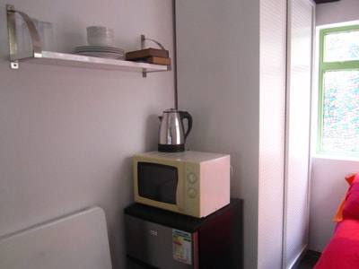 Microwave, fridge, water boiler, what more do you need?
