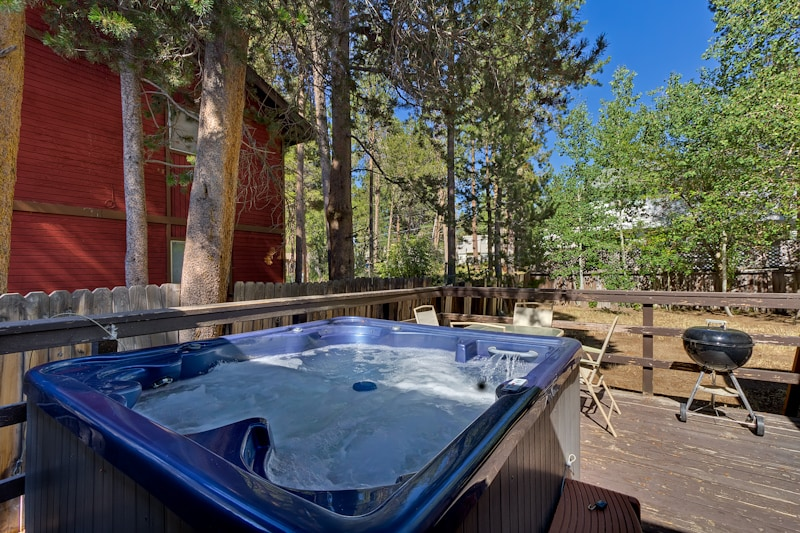 Need time to unwind? The private 6-7 person hot tube is the place to be!