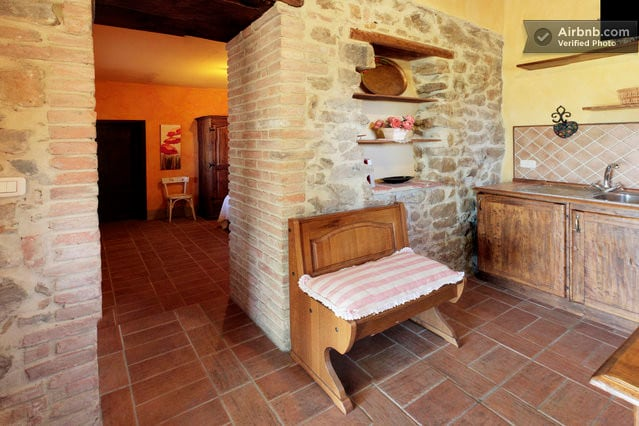 kitchen with entrance to the bedroom
