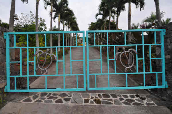 Turtle House gates, give privacy and safety.  We give guests a remote to come and go with ease