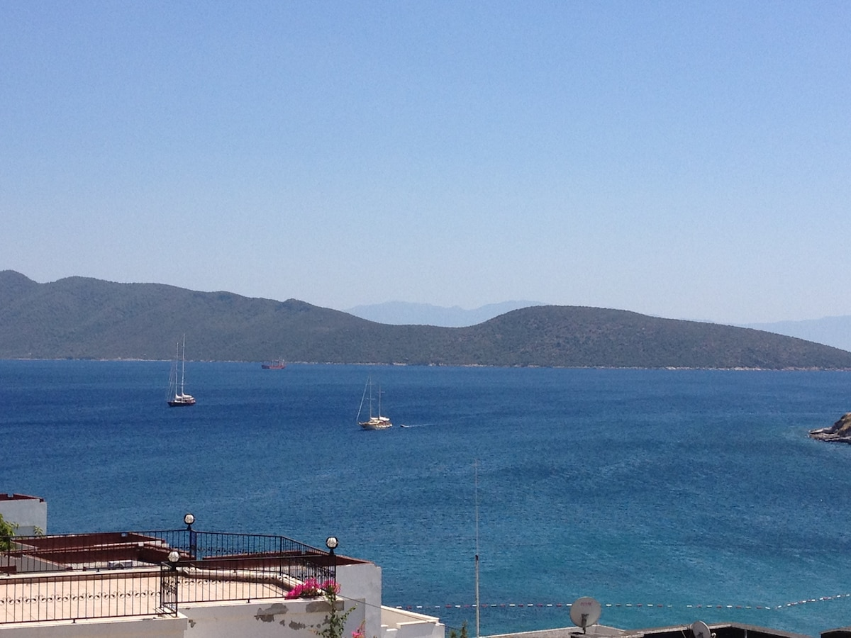 The view of Bardakci Bay from top deck..