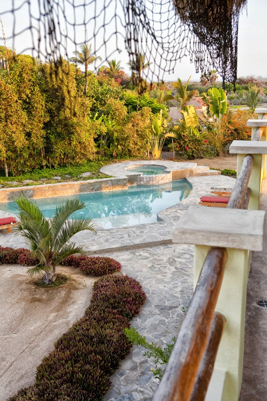 View of Pool from upstair Mountain Bedroom