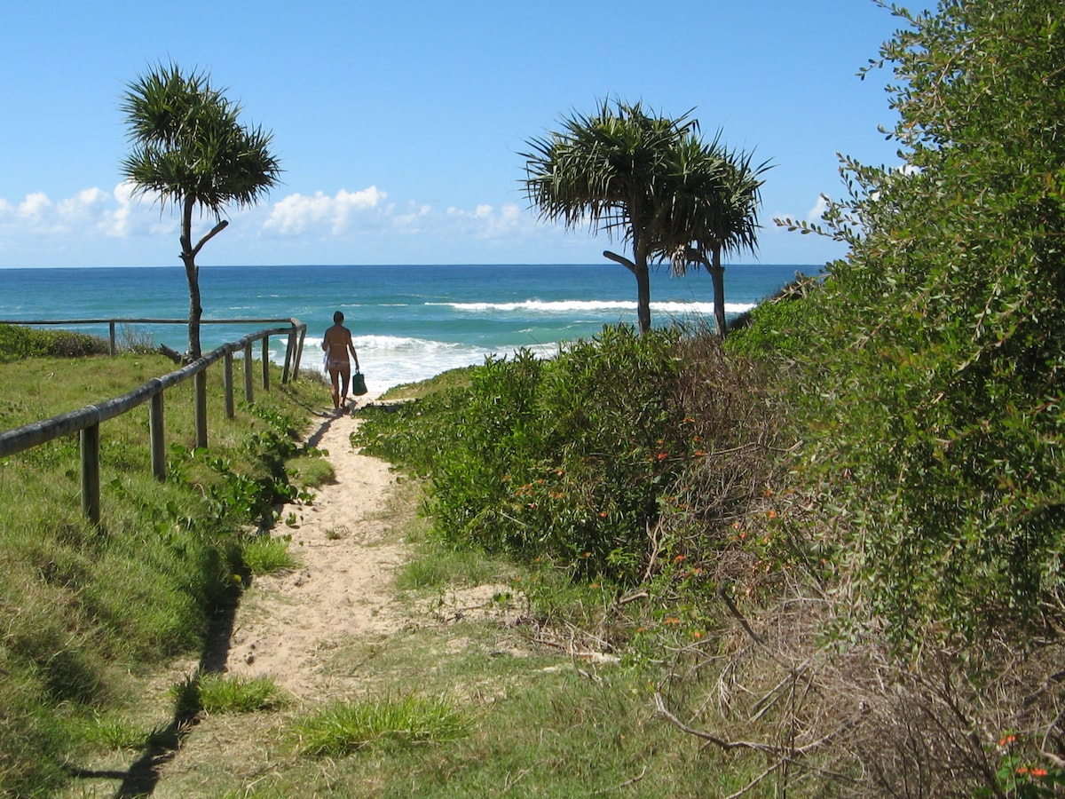 Beach, 5 minutes away