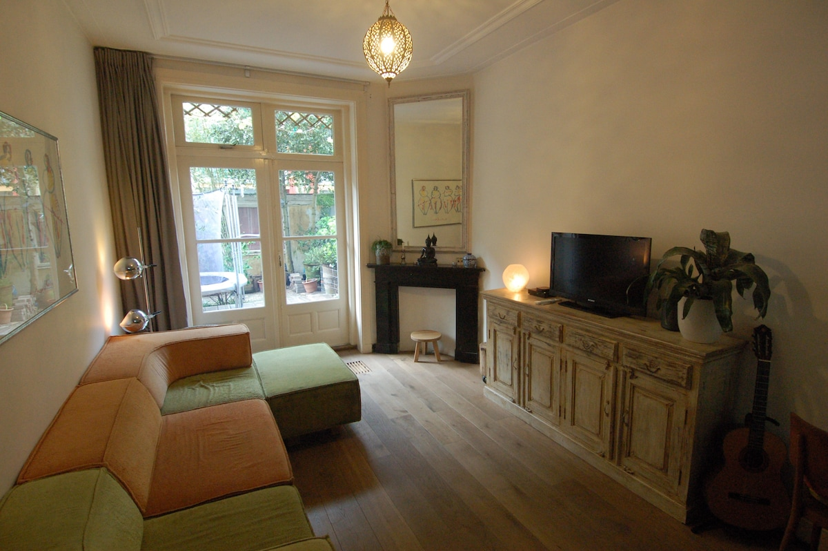 Living room with French doors to the garden