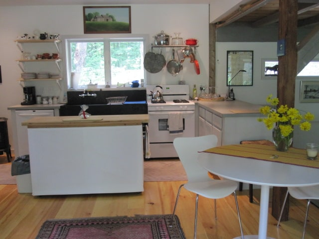 Shaker Road Guesthouse's fully Equipped kitchen ready for your culinary adventures.